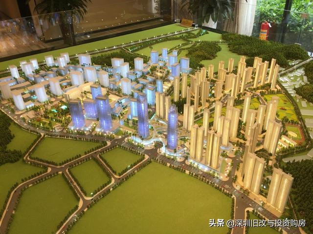 鸿荣源牛湖旧改城市更新 占地186万㎡超级巨无霸新型智慧新城