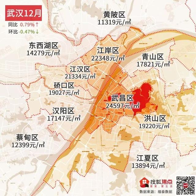 权威发布 | 2019年年终房价地图,同比20城涨 9城跌