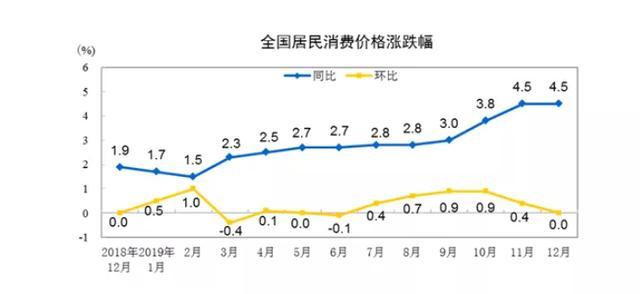 刚刚,CPI继续冲高4.5%,2020年钱要发毛吗?