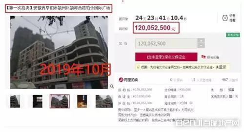 直降2400万元,阜阳一知名楼盘再遭拍卖