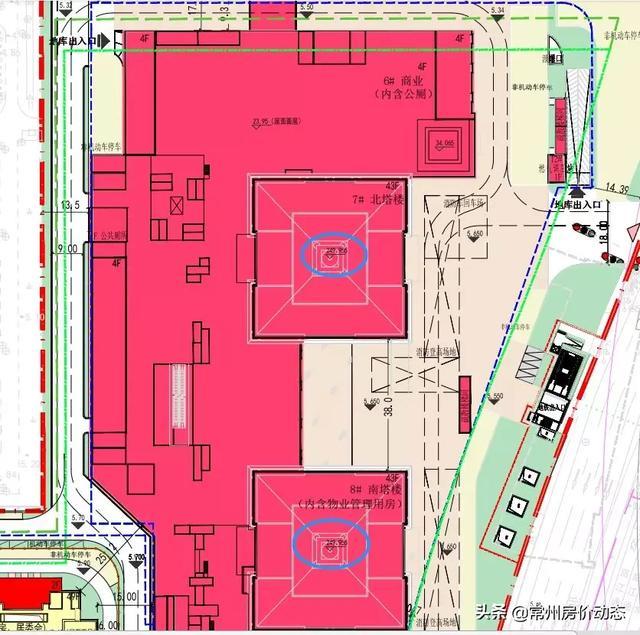 仅次于现代传媒中心!常州再现超高层双子楼!商业+地铁全配套