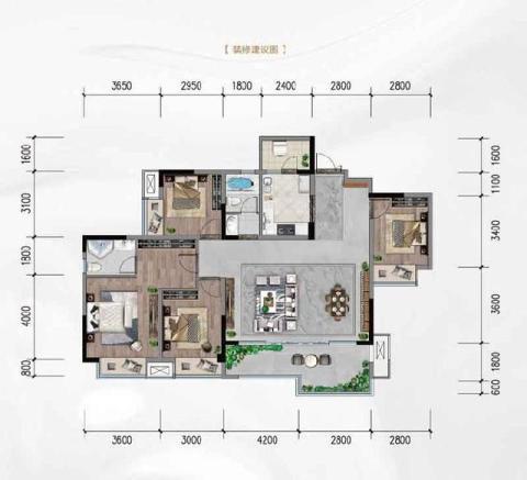 金隅大成新都会:最大约140米楼间距,悦享头排视野