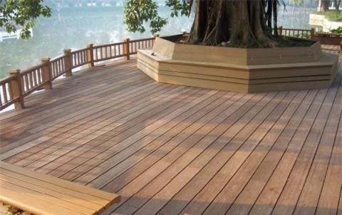 户外木塑地板安装 户外木塑地板效果图
