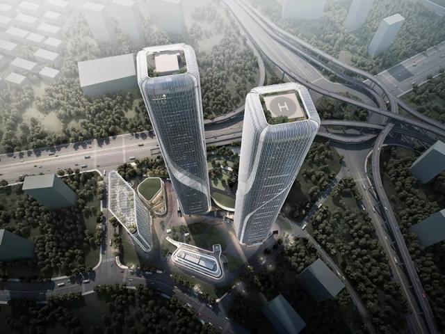 """高280米双子塔""""杭州世茂智慧之门""""建设新进展"""