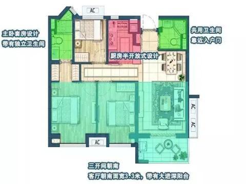 无锡罕见神户型!89平3房2厅2卫的突破