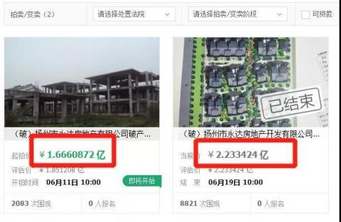 突发!江苏2家房企宣布破产,数亿房产低价抛售